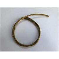 1 Edelstahlcollier m. Steckverschluss 6rhg. goldfarbig