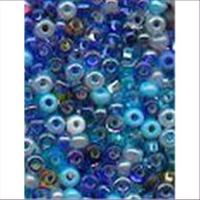 18gr.  Rocailles blau bunt mix