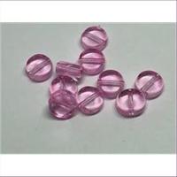 10 Glasperlen flache runde Scheiben