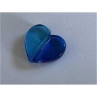 1 Acryl Herz Zweiton blau