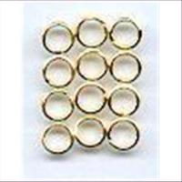 12 Spaltringe 4,5mm goldfarbig
