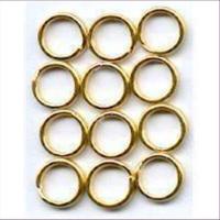 6 Spaltringe 9mm goldfarbig