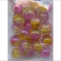 1 Beutel Glasperlen 8mm 2-farbig