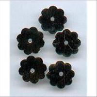5 Metall Blütenplättchen Scheiben