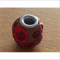 1 Glasperle mit Strass Beads