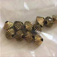 12 Acrylperlen antikgold