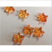 1 Acryl Stern orange gelb