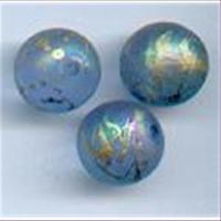 3 Acrylperlen m. goldschlieren 10mm
