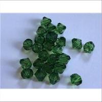 24 Acrylperlen Facettenperlen grün
