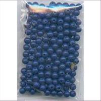 1 Beutel   Acrylperlen 4mm blau