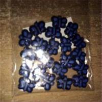 1 Acryl-Schmetterling blau