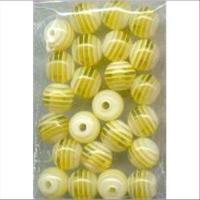 24 Acrylperlen 8mm gelb 8mm gelb