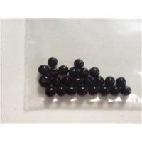 24 Glasperlen 4mm schwarz