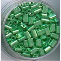 35gr. Rocailles Rechteck grün