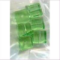 6 Glasperlen Glaswürfel