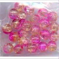 1 Beutel Glasperlen 4mm 2-farbig
