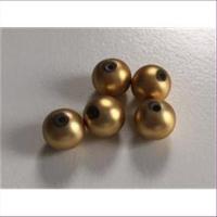 5  Acrylperlen mattgold 8mm