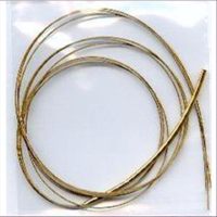 1 Edelstahlcollier m. Steckverschluss 3rhg. goldfarbig