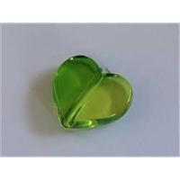 1 Acryl Herz Zweiton grün