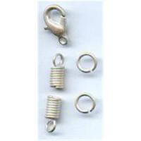 1 Carabiner mit 2 Endteilen und Ringen 3mm