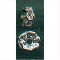 1 Mini Strass-Wellenrondell silber cristall