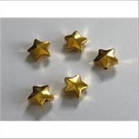 5 Metallperlen Sterne
