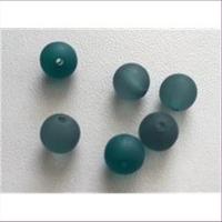 6 Acrylperlen 8mm mattpetrol