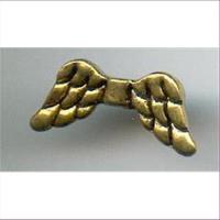 1 Metall Flügelperle  mini 15x7mm