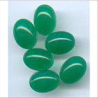 6 Mineral-Cabochon Capuchon grün