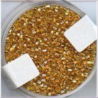 18gr.  Rocailles gold-cristall