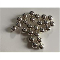 24 Acrylperlen silber