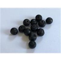 1 Beutel Holzperlen 8mm schwarz