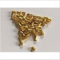 100 Quetschröhrchen Schmelz goldfarbig 2mm