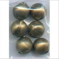 6 Acrylperlen 12mm bronze