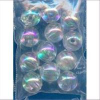 12 Acrylperlen 10mm cristall AB