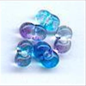 "50 Stück Farfalle Perlen ""Bohnen"" groß"