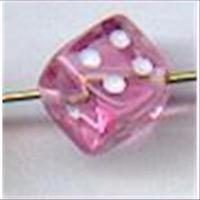 1 Acrylwürfel 5mm rosa transparent