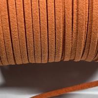 1m Velour Lederband orange