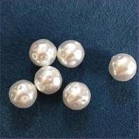 6 Acrylperlen Wachsperlen 10mm