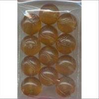 12 Acrylperlen gemustert 12mm braun