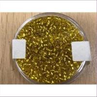 18gr.  Rocailles gelbgold Goldeinzug