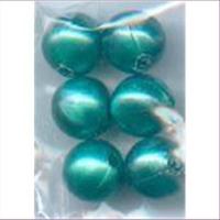 6 Acrylperlen 10mm mint