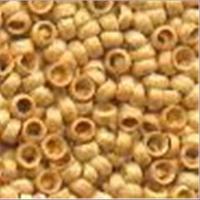 100 Quetschperlen Schmelz glatt mattgold 2,07mm