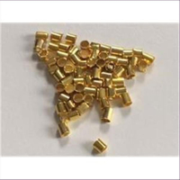100 Quetschröhrchen Schmelz goldfarbig 1,2mm