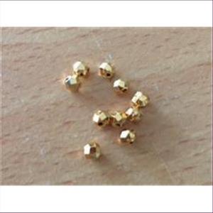 10 Gold-Wabenperlen Discokugel