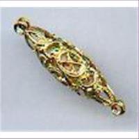 1 Filigranolive 27x7mm goldfarbig