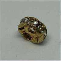 1 Strass-Rondell gold cristall