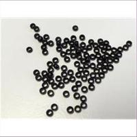 100 Quetschperlen Schmelz glatt schwarz 2,66mm