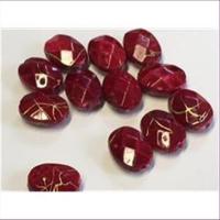 12 Acrylperlen m. Goldschlieren