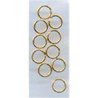10 Spaltringe 5mm goldfarbig